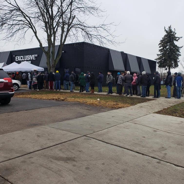 Line at Exclusive Ann Arbor