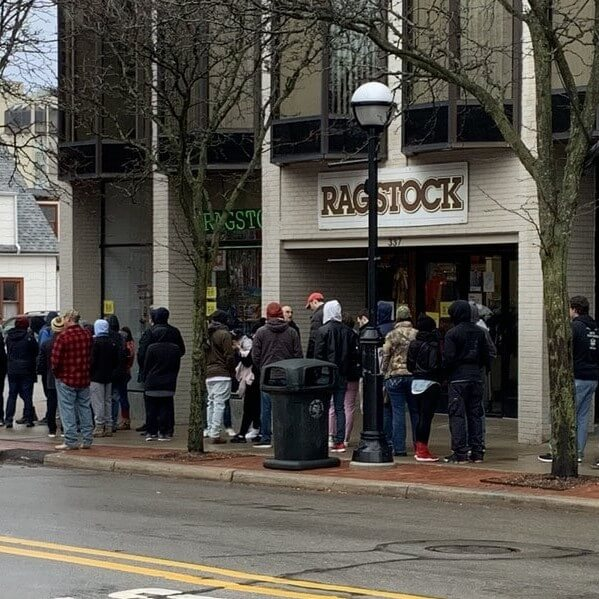 Waiting Line for Exclusive Cannabis