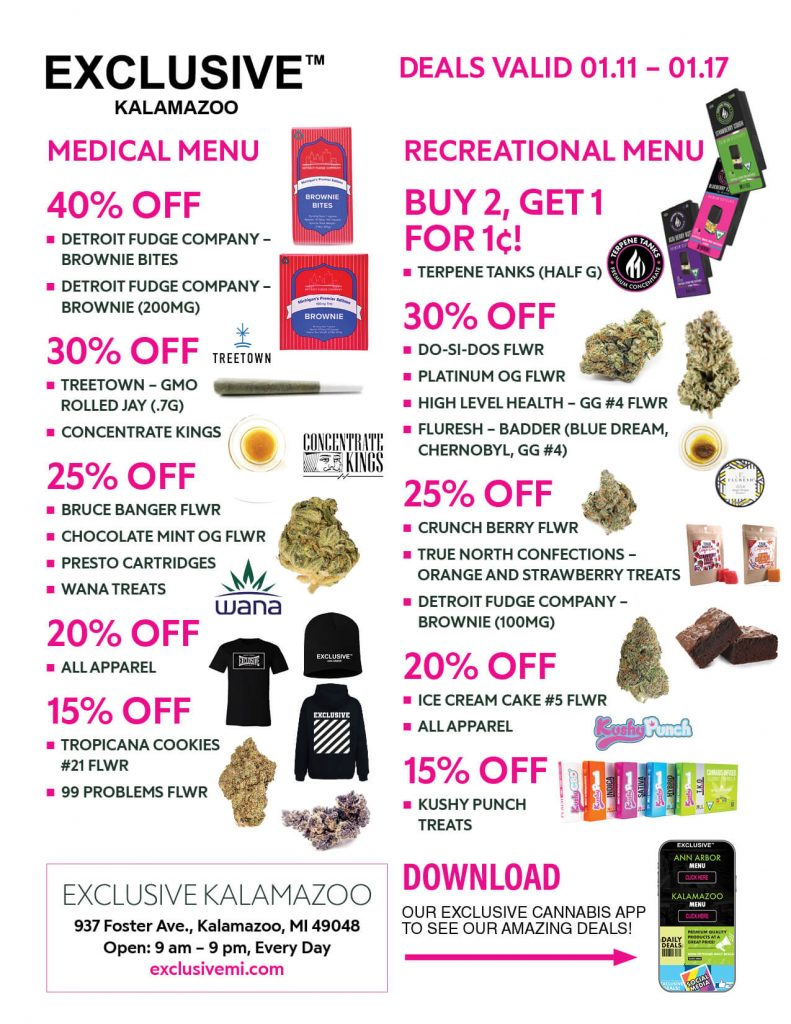 exclusive kzoo weekly specials 1/11